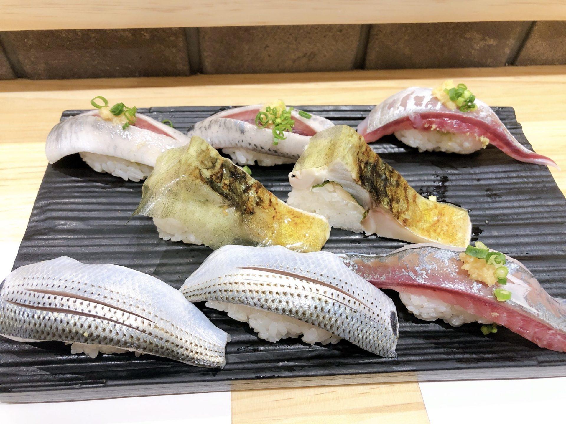 梅ヶ丘の美登利寿司の光り物づくし