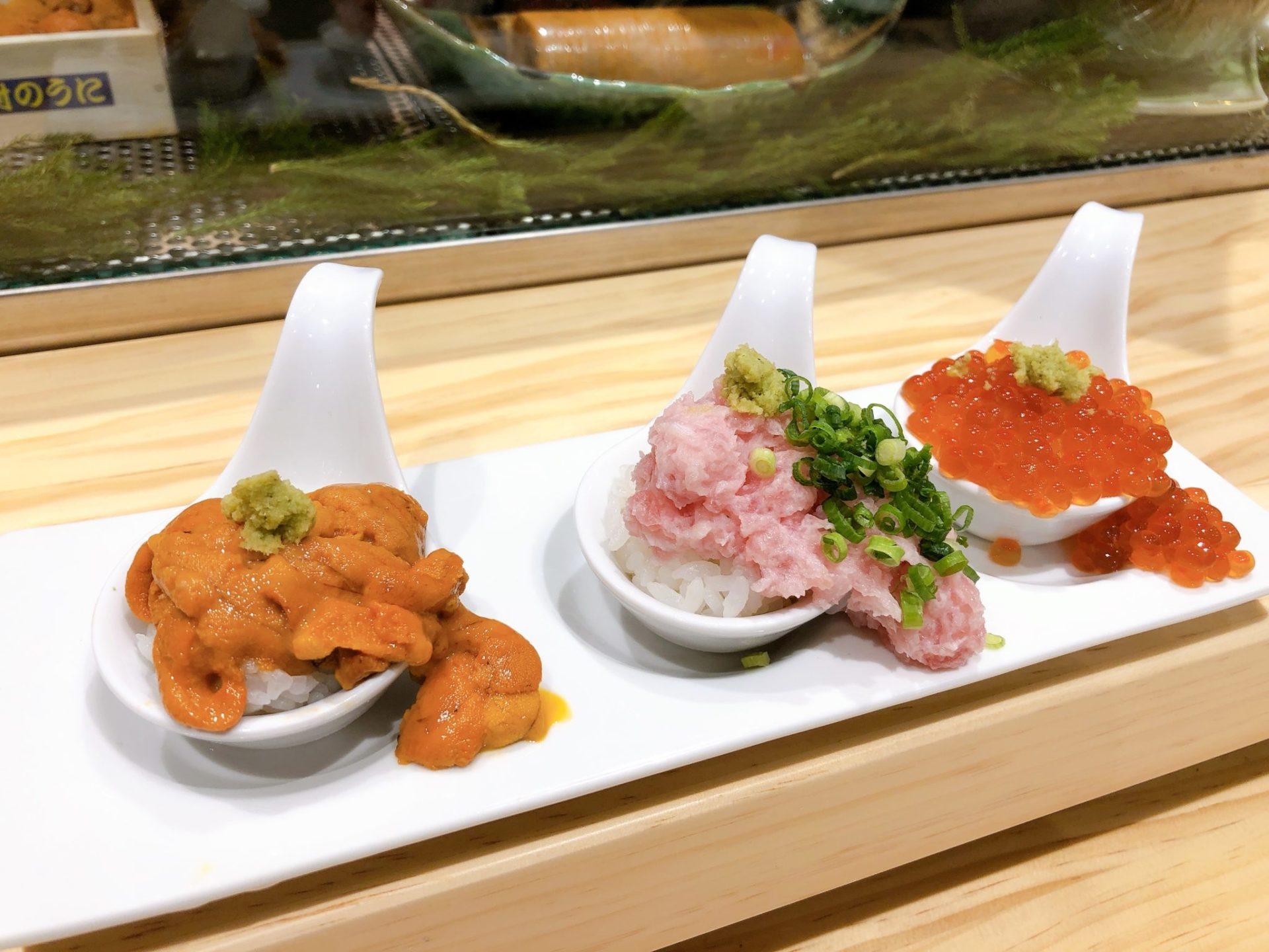 梅ヶ丘の美登利寿司のこぼれづくし