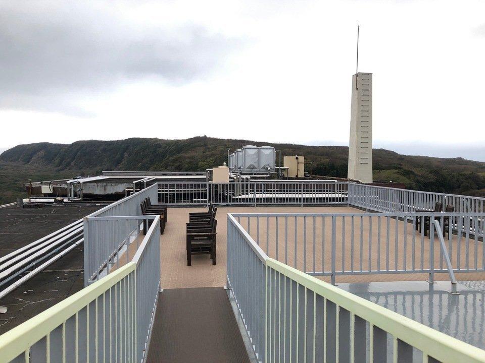 大島温泉ホテルの三原山テラス