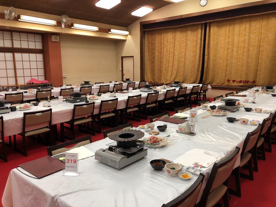 大島温泉ホテルの夕食会場