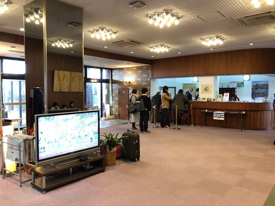 大島温泉ホテルの受付