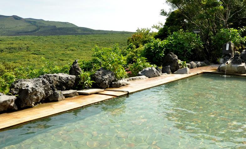 大島温泉ホテルの露天風呂