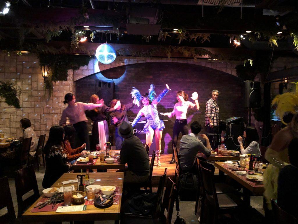 トゥッカーノ渋谷店のサンバショー