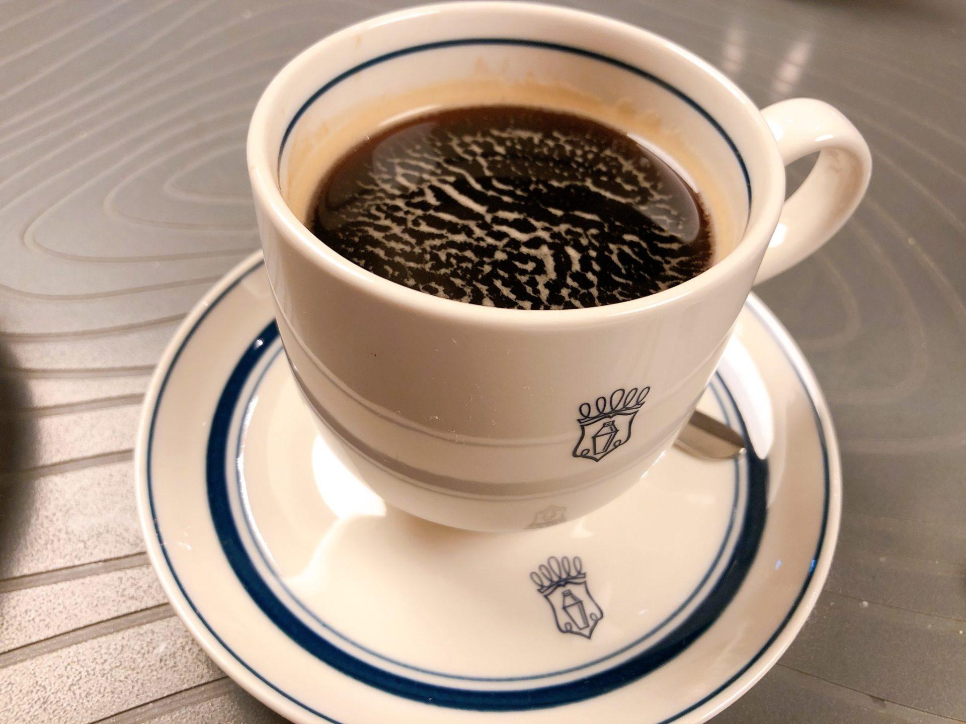 バスク風チーズケーキのコーヒー