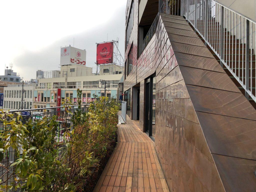 シモキタフロント下北沢に登ってみた