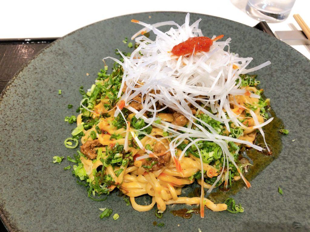 花椒庭(かしょうてい) 東急プラザ渋谷店のランチ(汁なし担々麺)