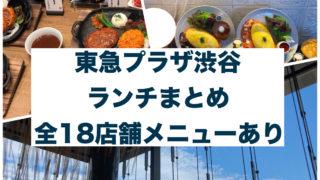 東急プラザ渋谷のランチまとめ!全18店舗のランチメニュー掲載