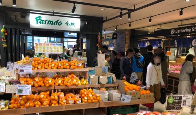 食の駅 南町田グランベリーパークの野菜・果物売り場