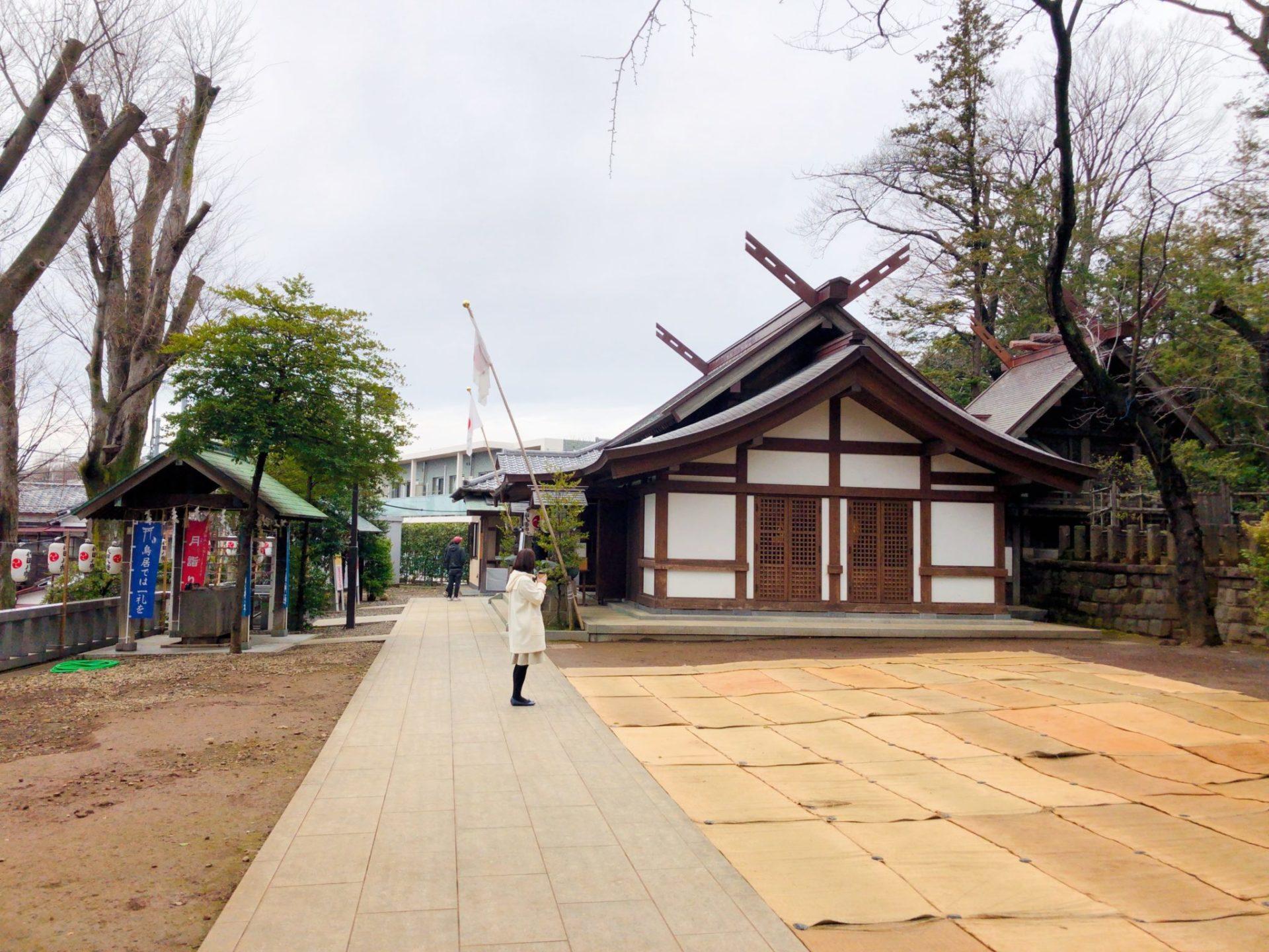 世田谷 代田八幡神社の境内の様子