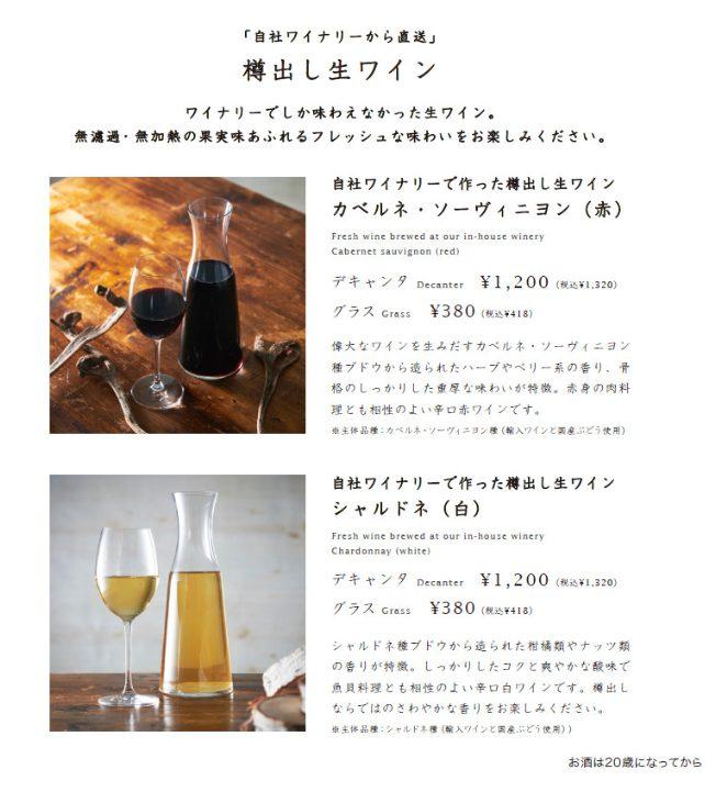 YATSUDOKI(ヤツドキ)自由が丘店の蔵出し生ワイン