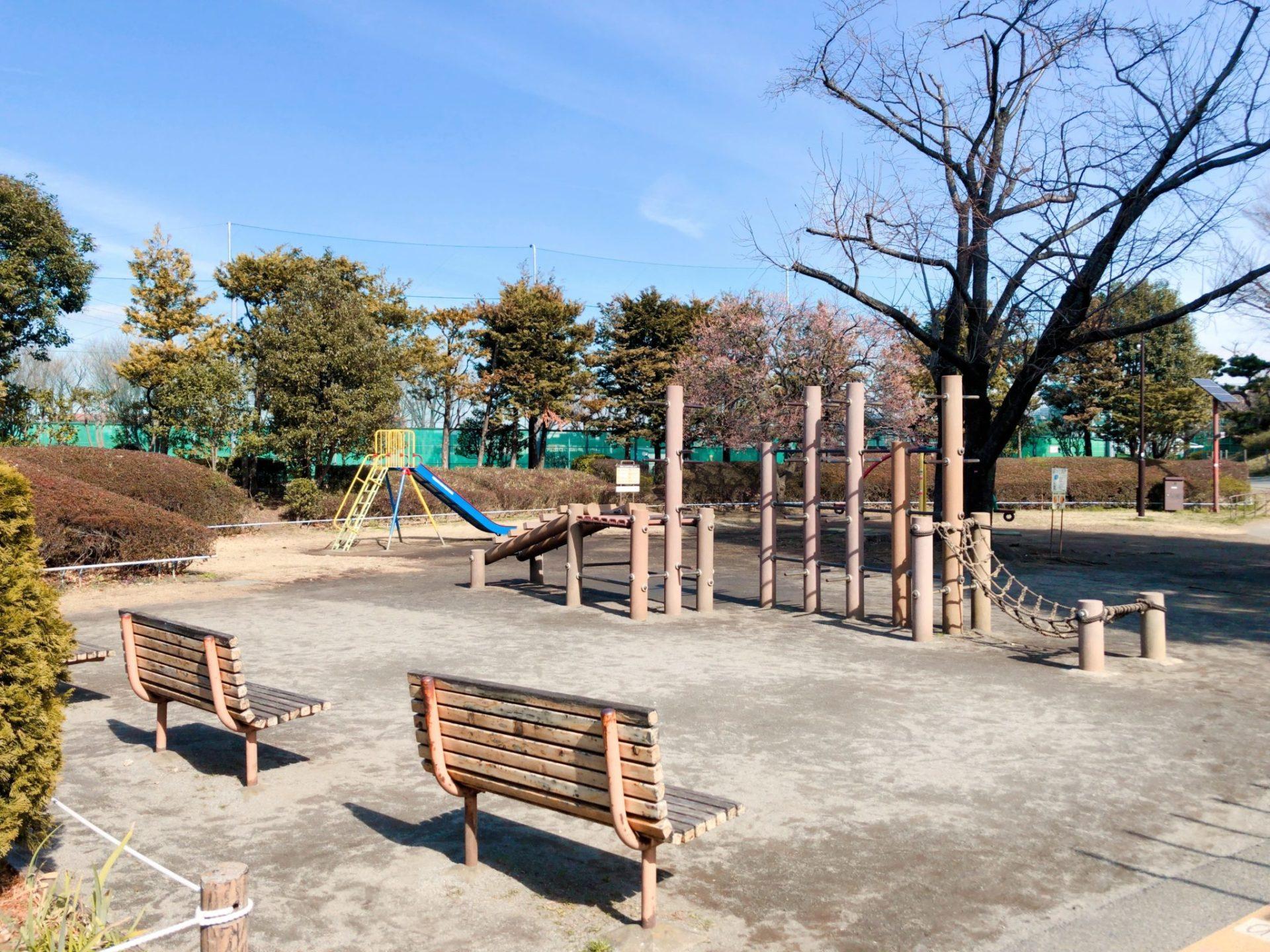 玉川野毛町公園の遊具(アスレチック)