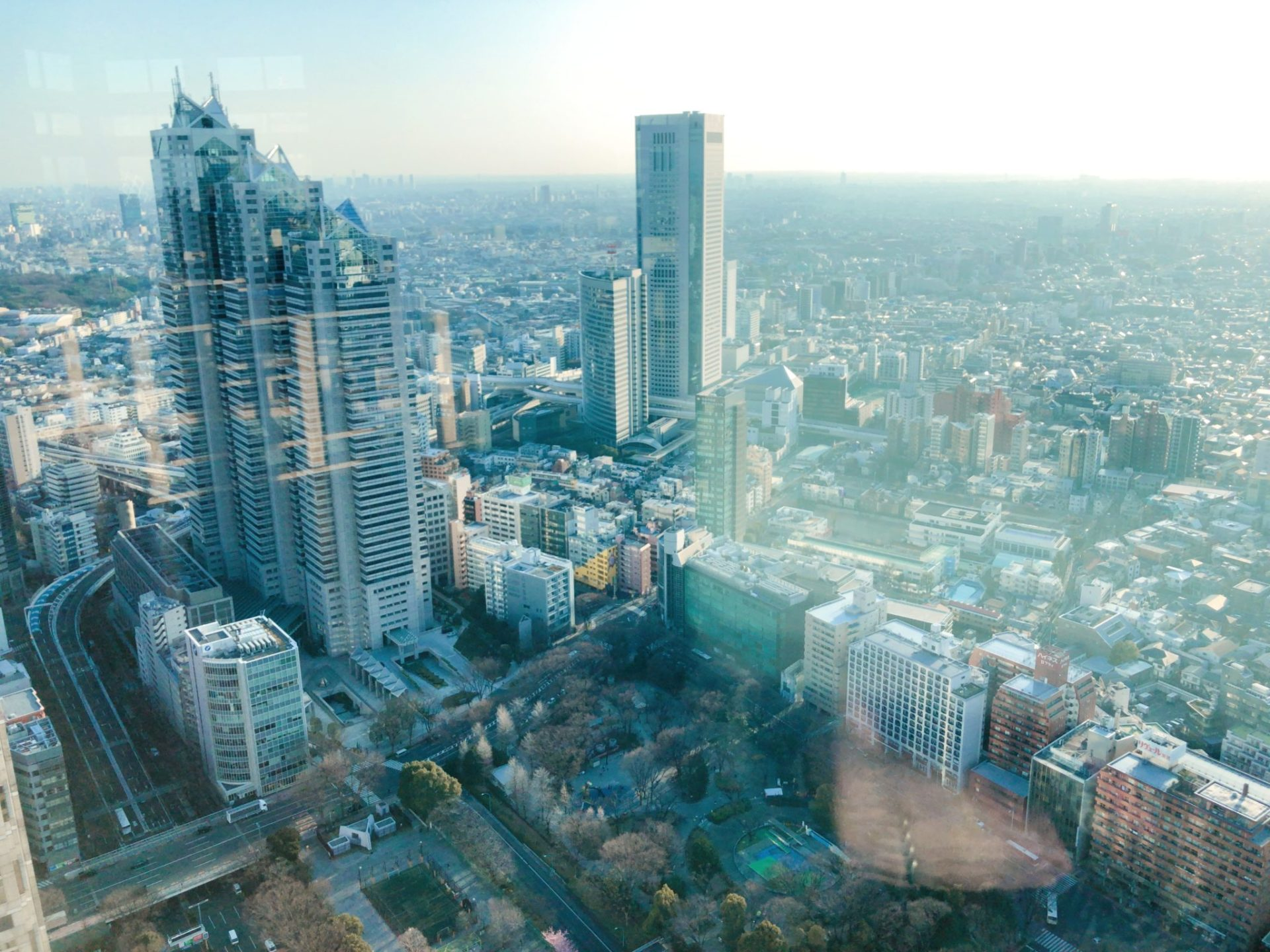都庁 北展望台から見る新宿パークタワー