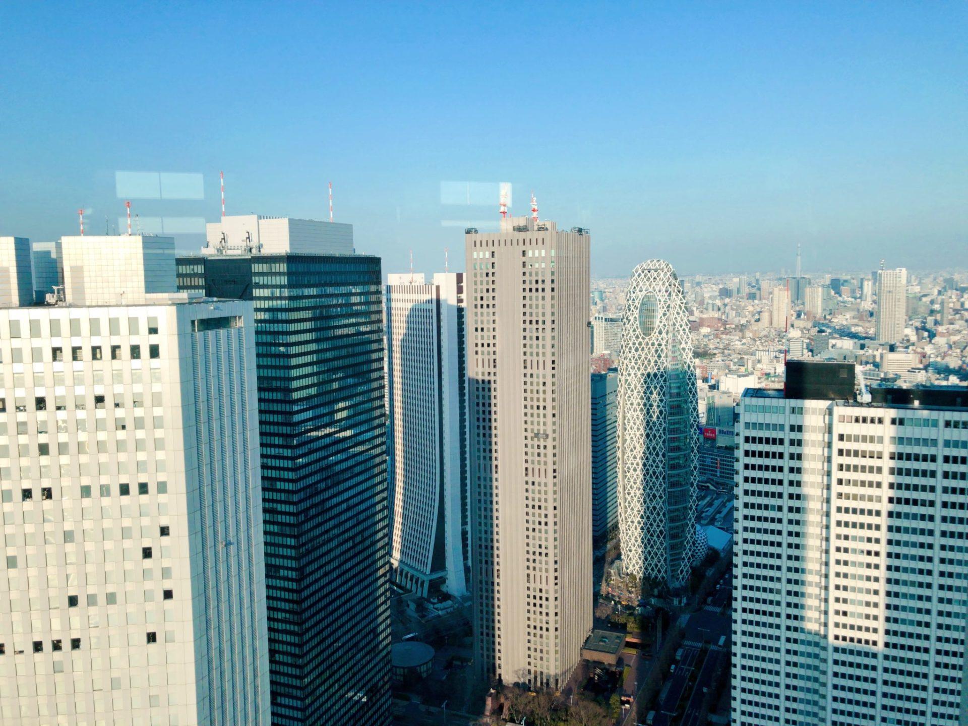 都庁 北展望台から見る新宿の高層ビル