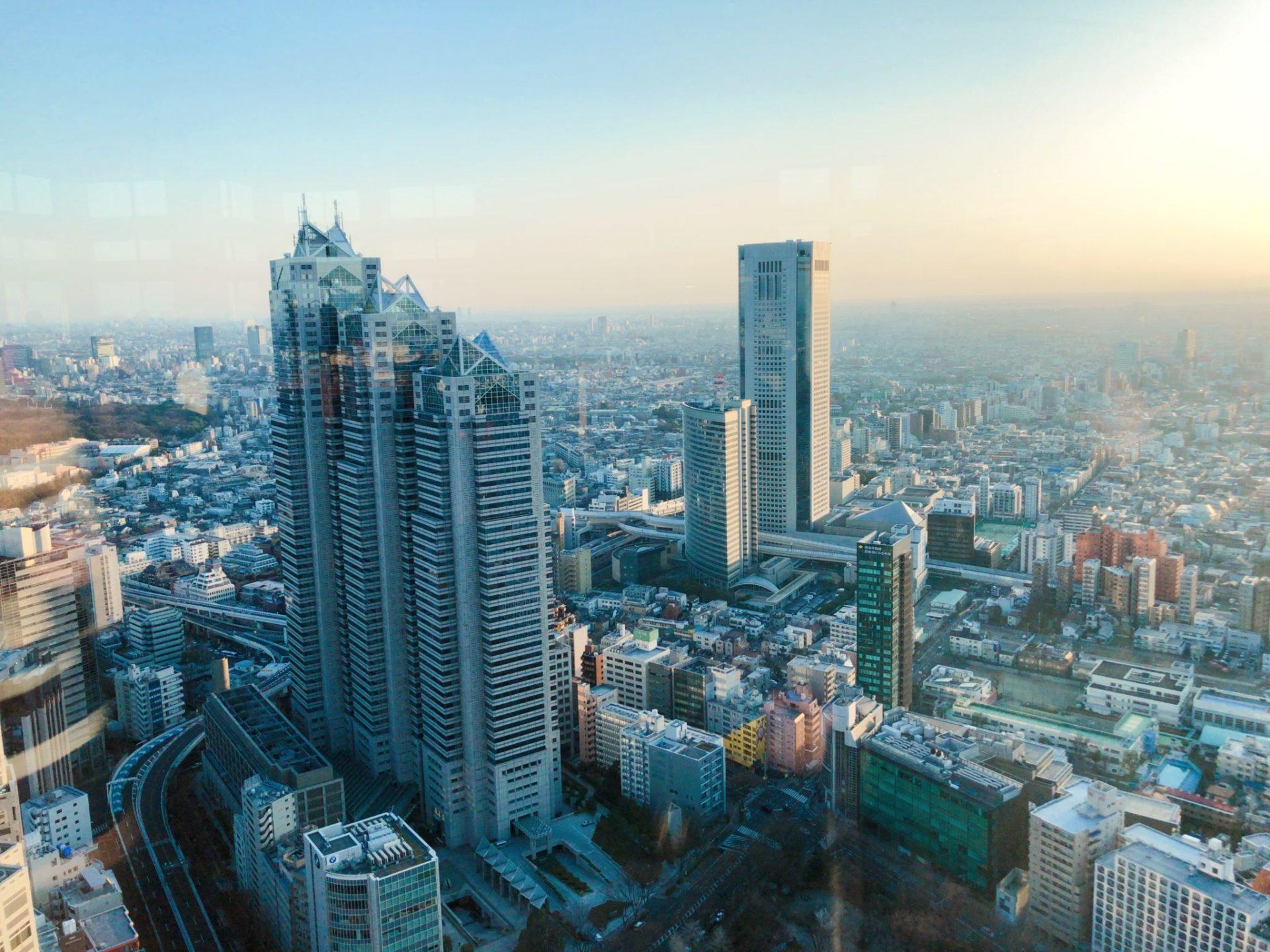都庁 南展望台の眺め