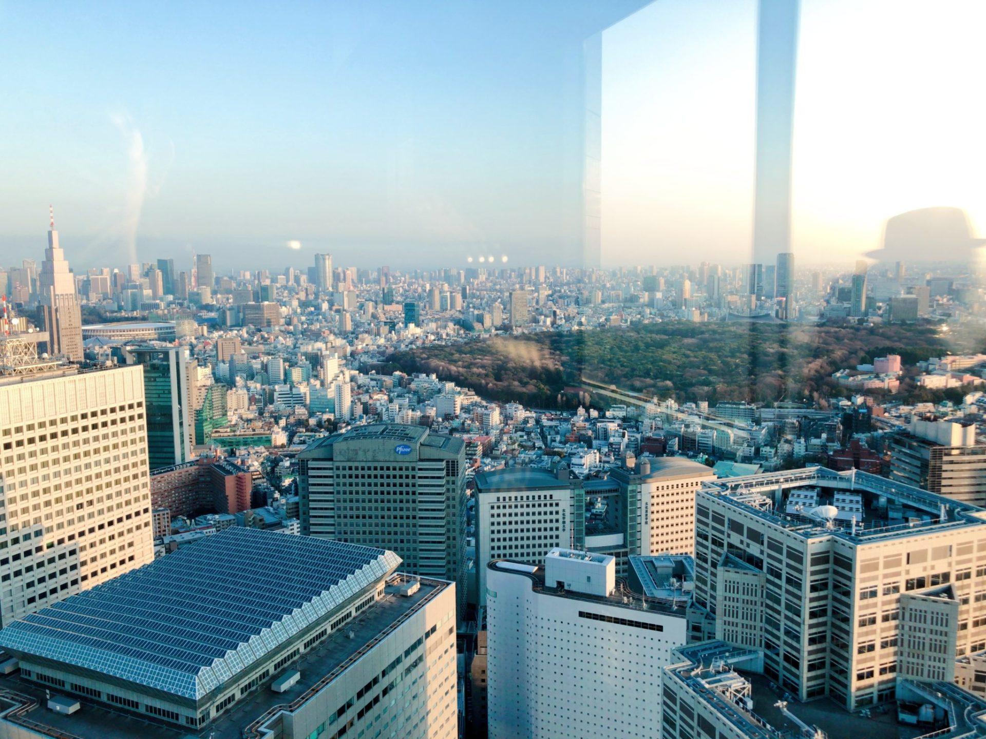 都庁 南展望台から見える明治神宮