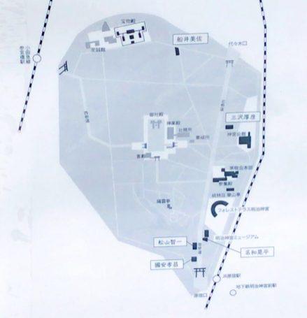 「神宮の杜芸術祝祭」のマップ