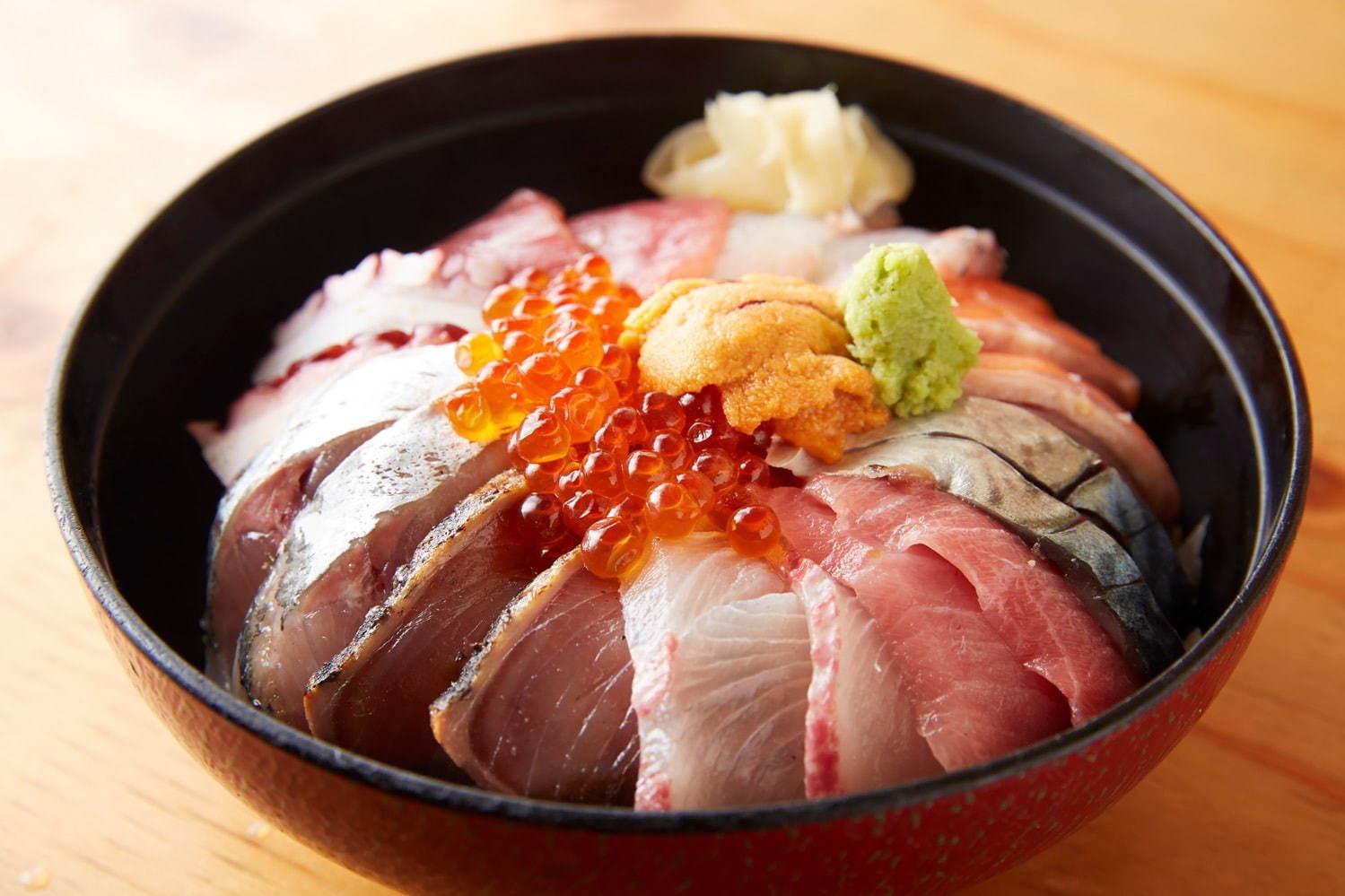 渋谷横丁の海鮮丼