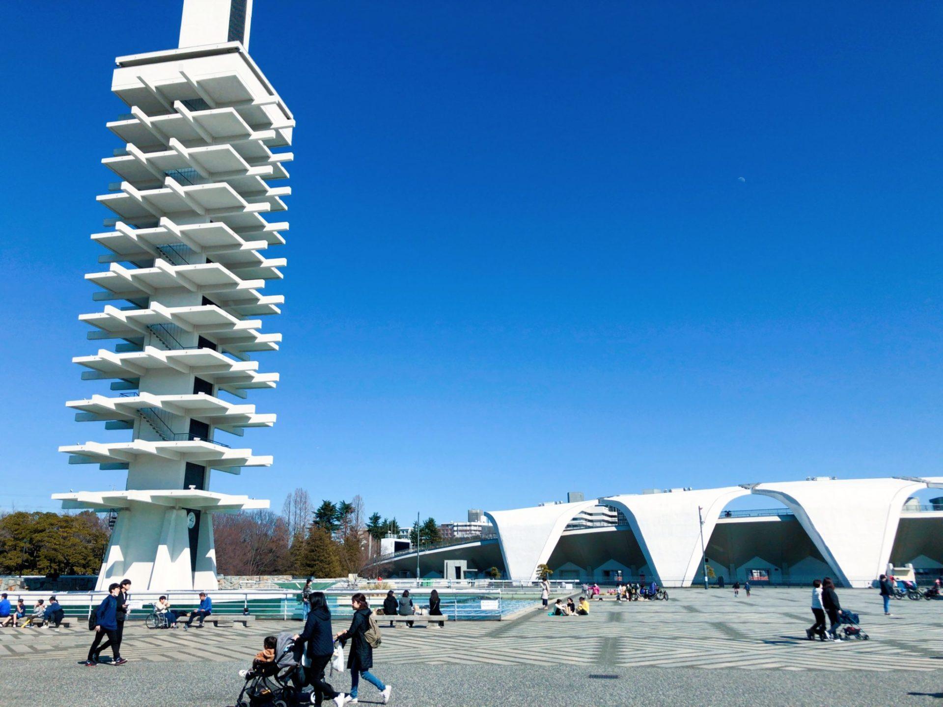 世田谷にある駒沢公園のオリンピック記念塔