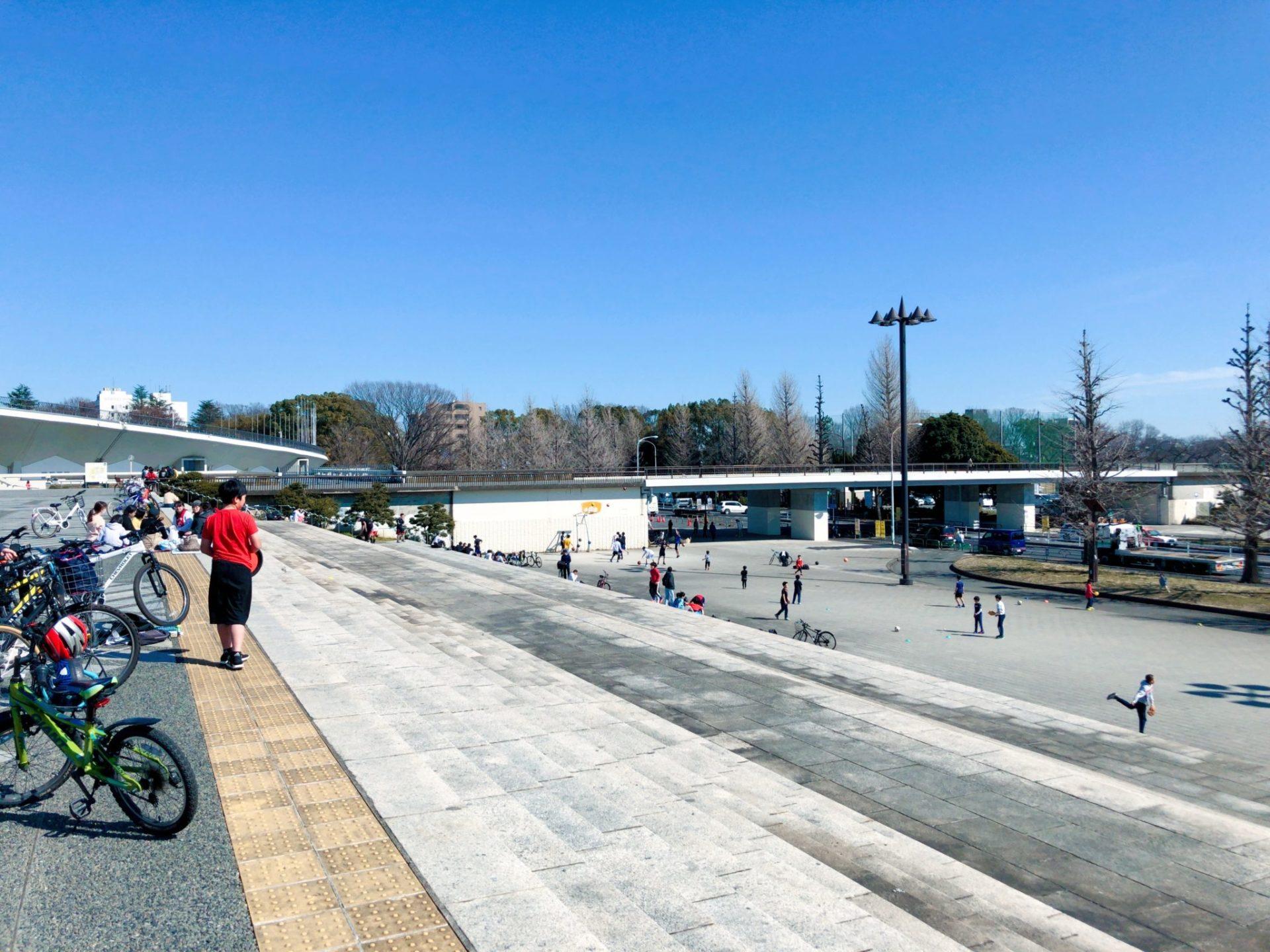 駒沢オリンピック公園の大階段