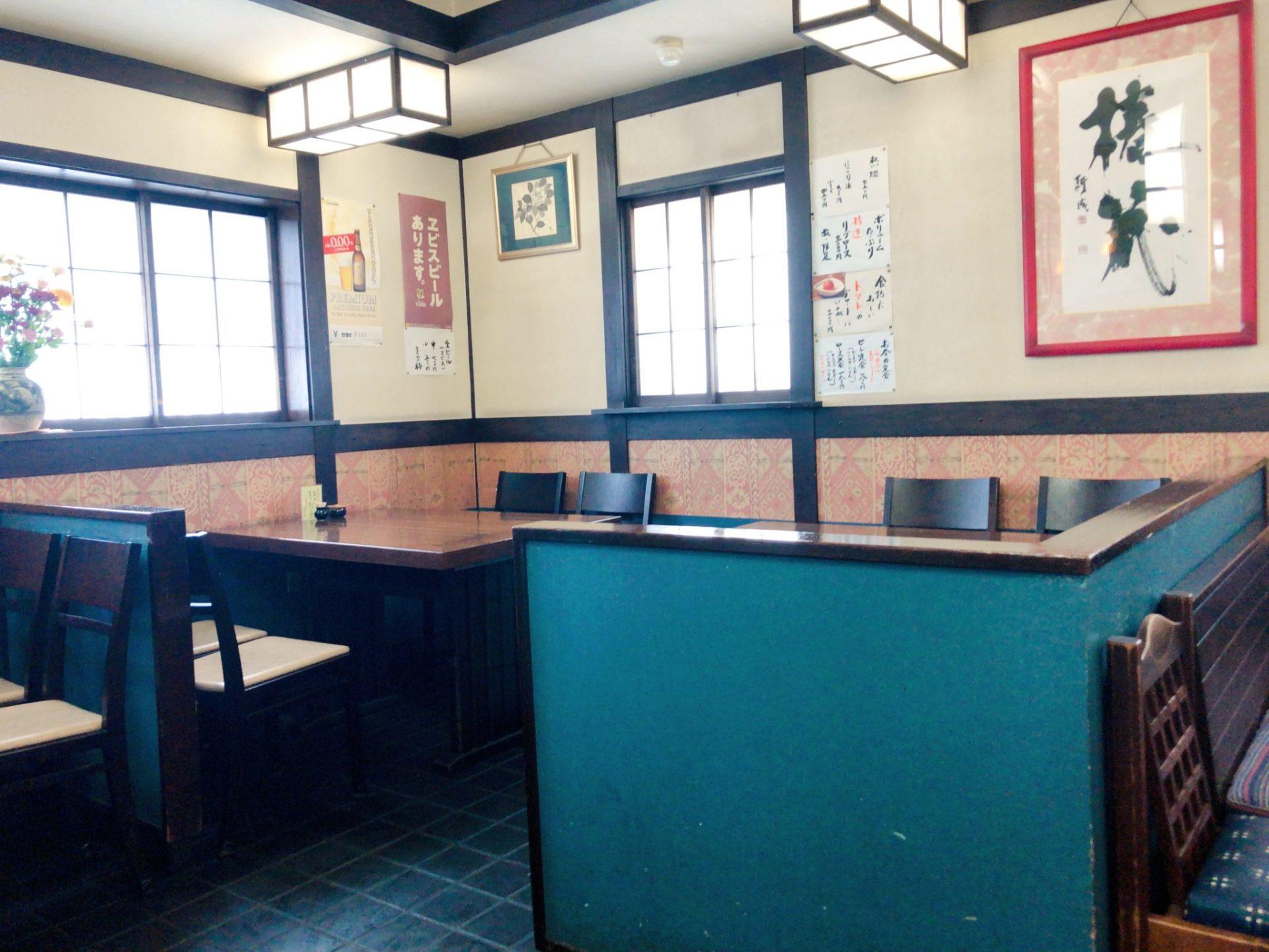 とんかつ椿 成城のテーブル席