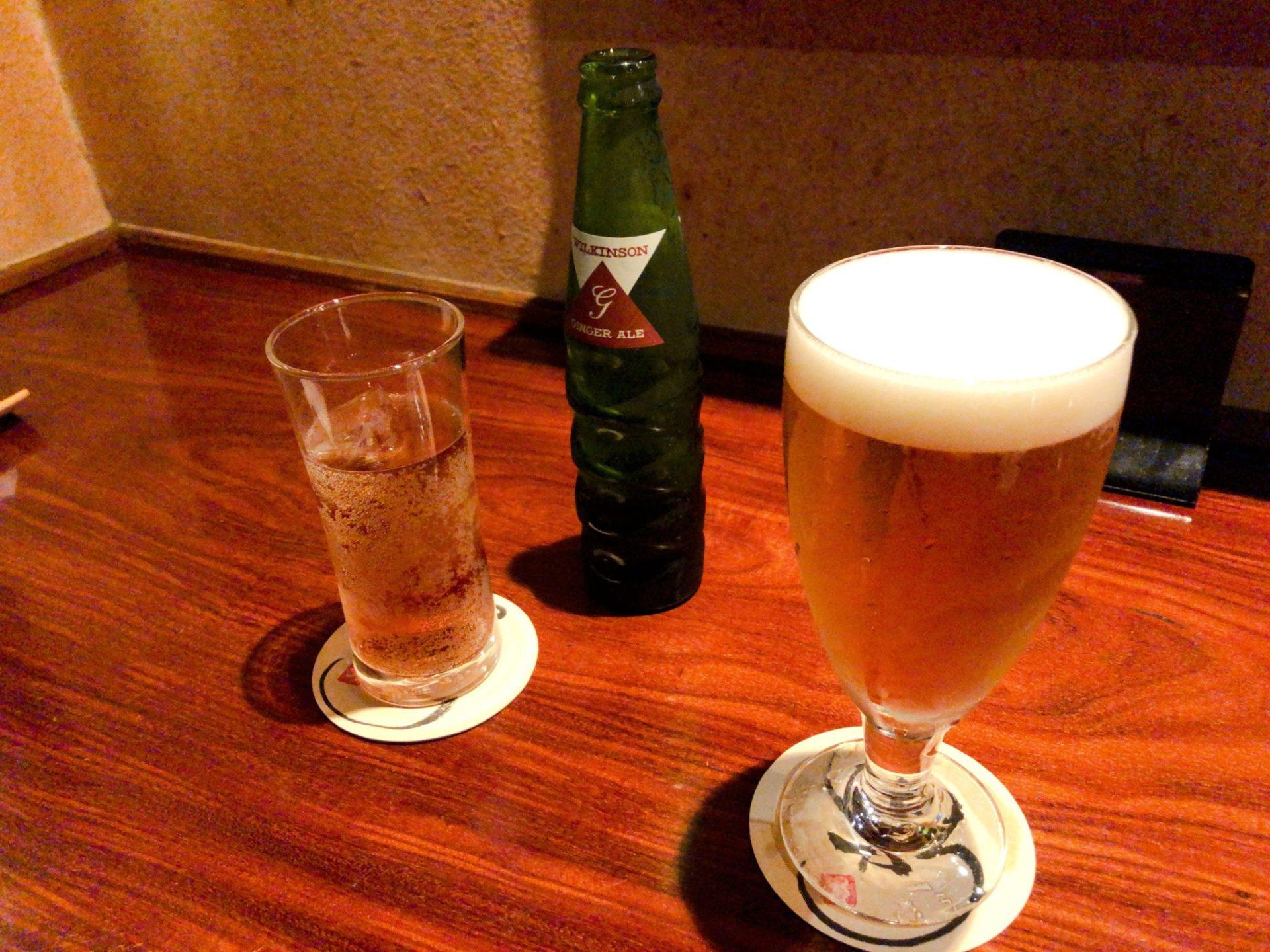 和shoku。の水 の生ビール