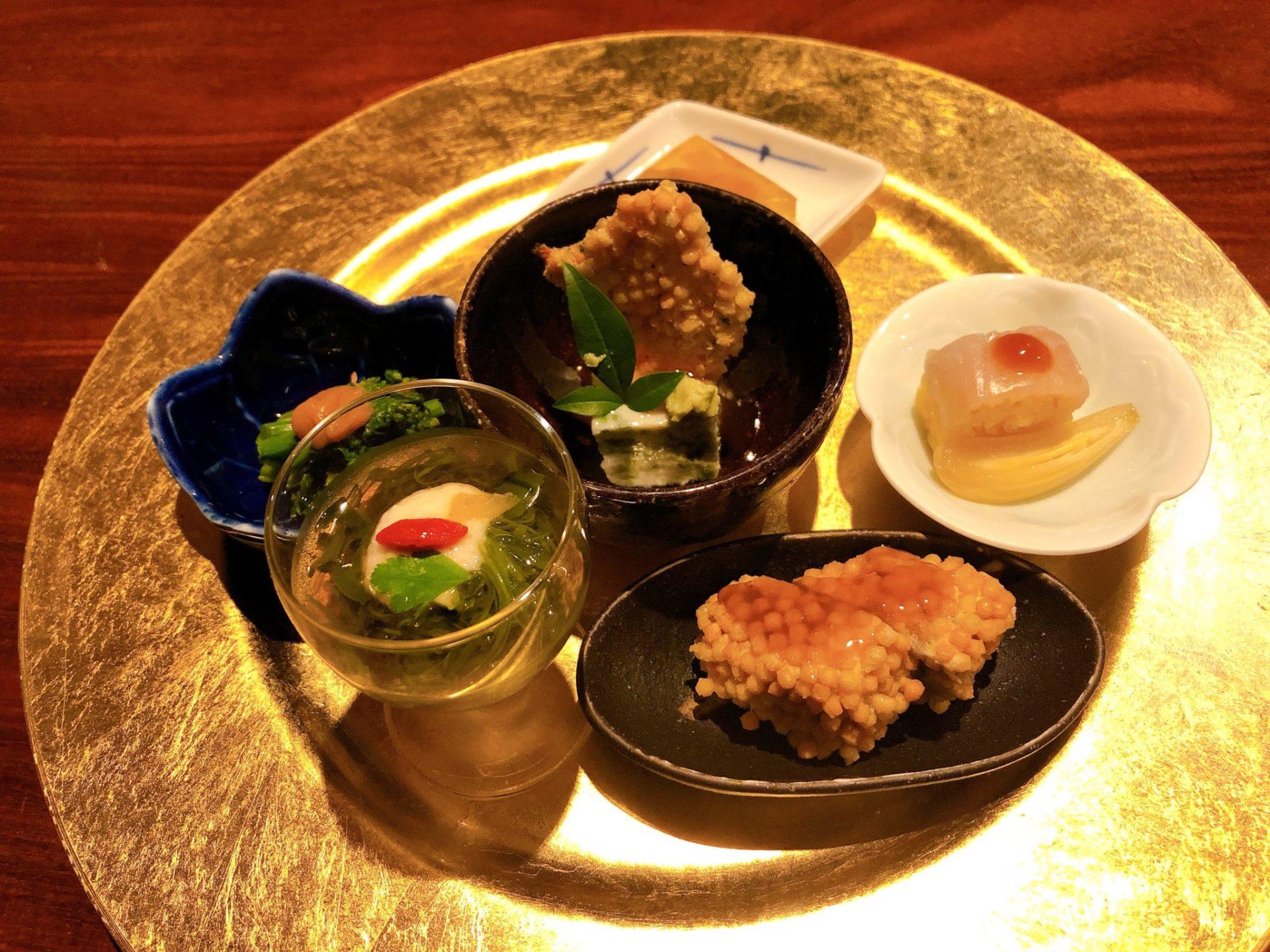 和shoku。の水 の酒菜盛り合わせ
