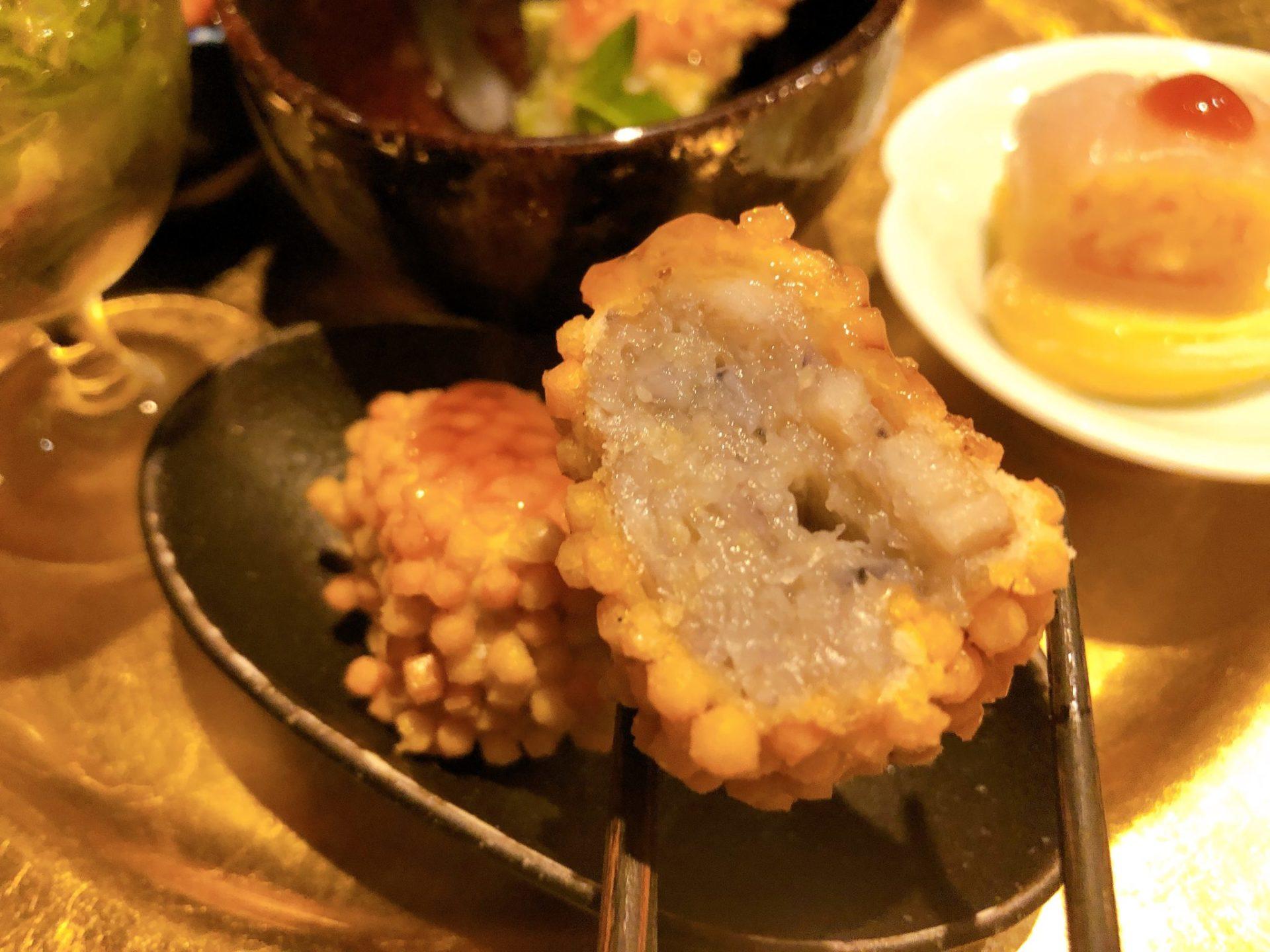 和shoku。の水 の里芋あられ揚げ