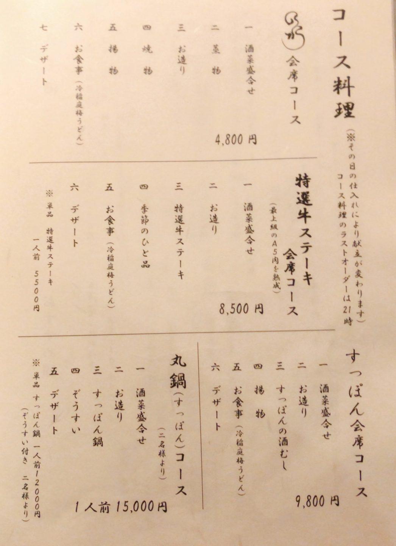 和shoku。の水 のコース料理