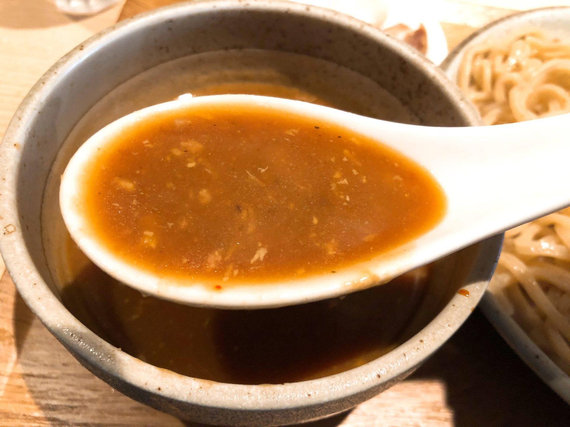 ボノボ 梅ヶ丘の渡り蟹のつけ麺のスープは濃厚