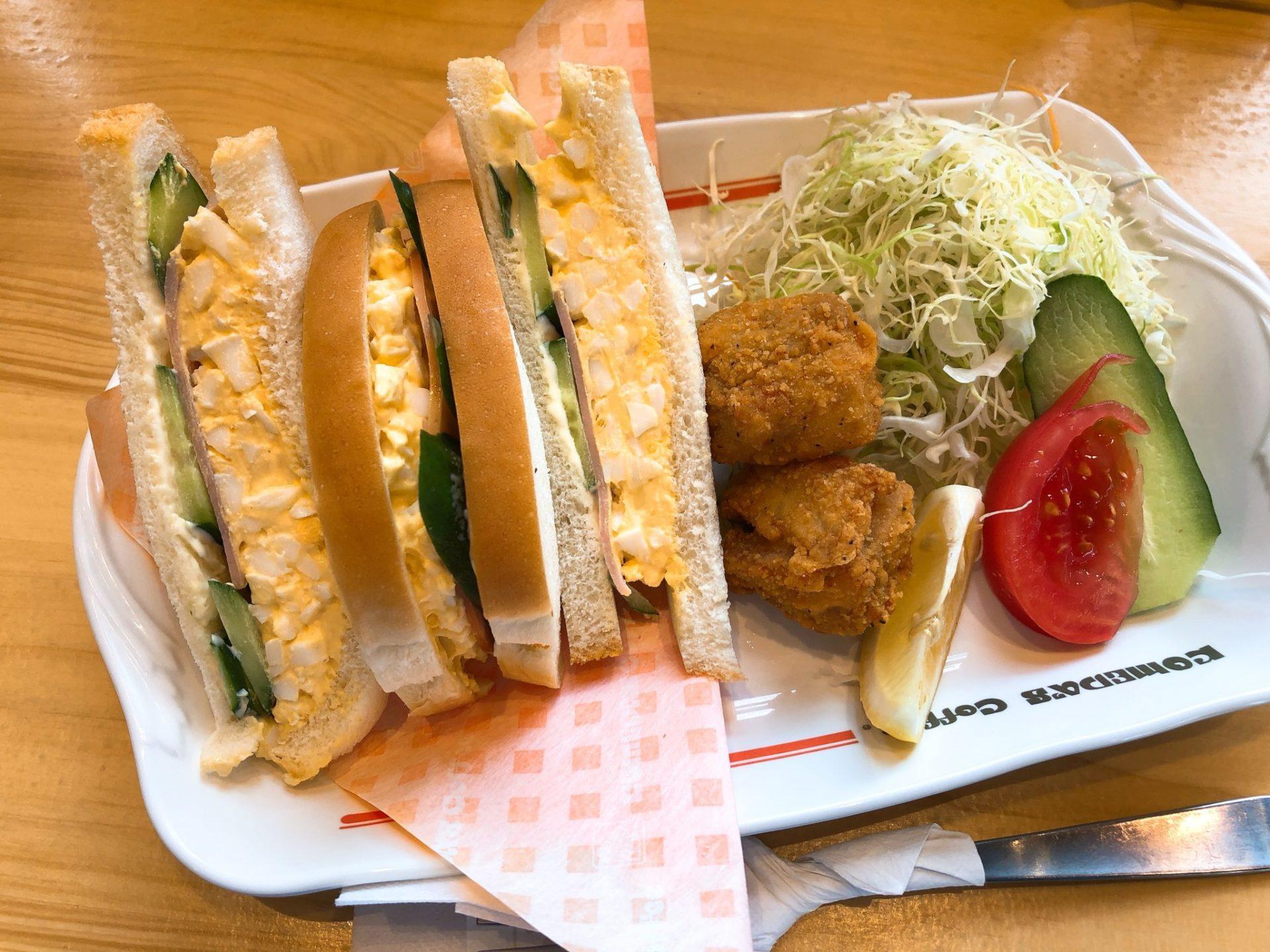 コメダ珈琲店 駒沢公園前店の昼コメプレート