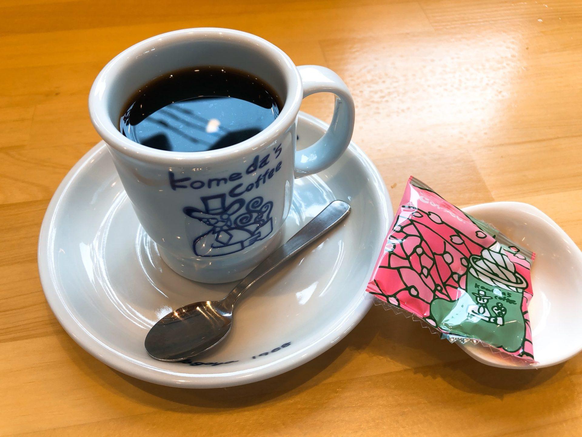 コメダ珈琲店 駒沢公園前店のブレンドコーヒー