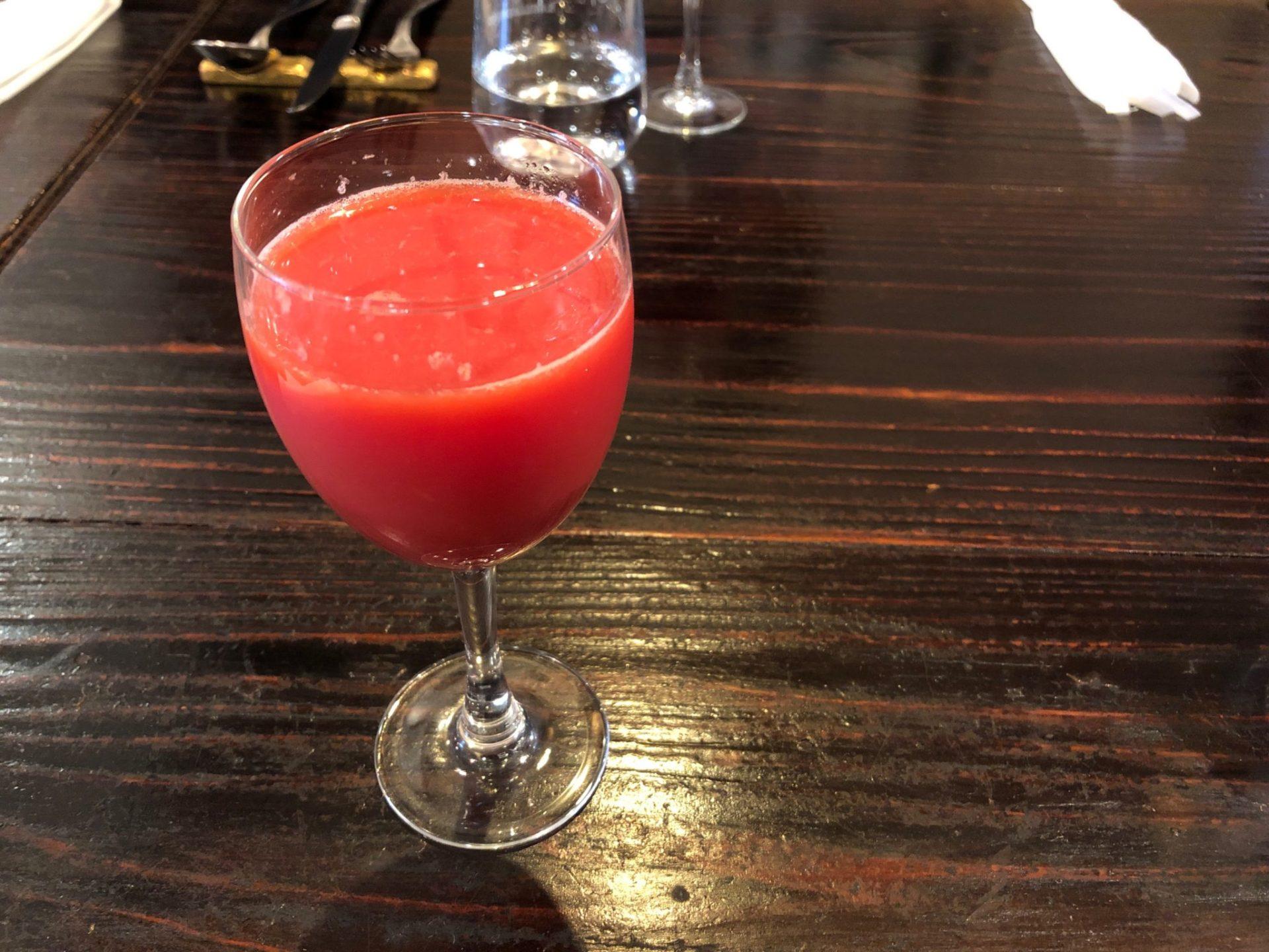 ズッペリア オステリア ピティリアーノ 祖師谷のブラッドオレンジジュース