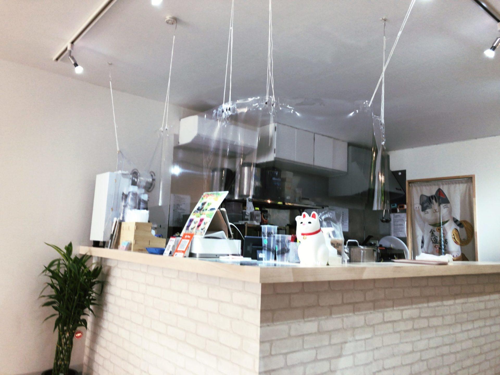 Tik Tea 豪徳寺店のカウンター
