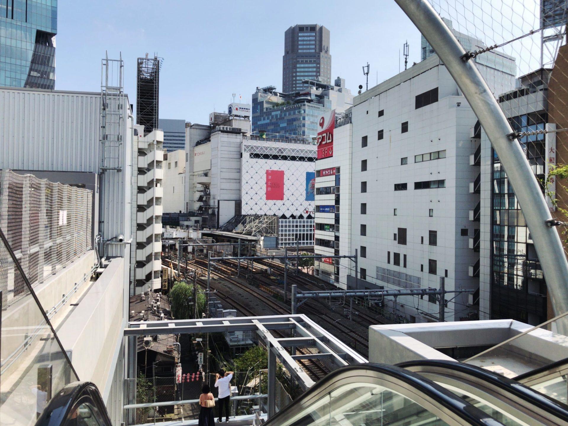 ミヤシタパーク(MIYASHITA PARK)屋上部 渋谷区立宮下公園からの眺め