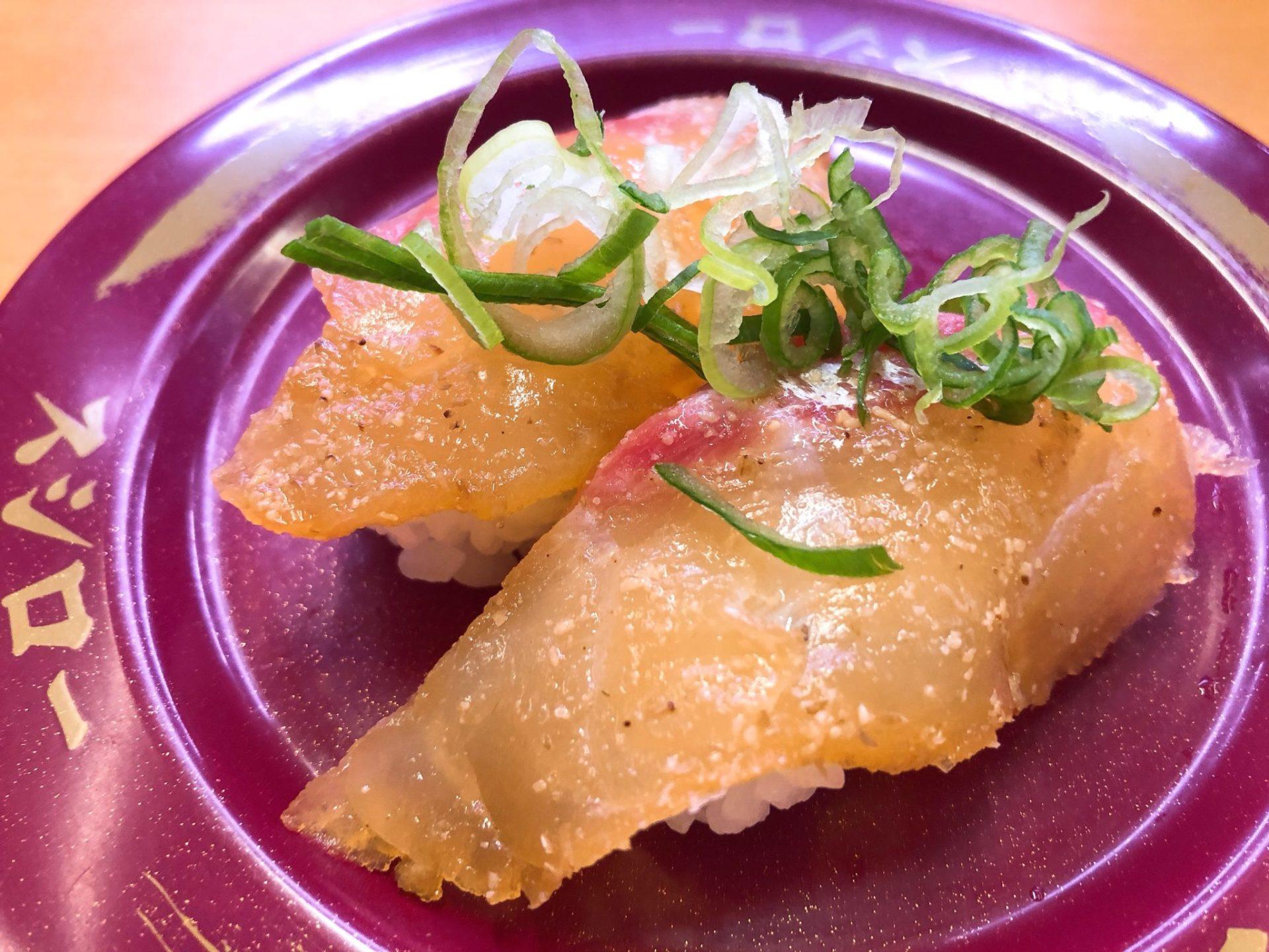 スシロー有楽町店のおすしづけごま真鯛