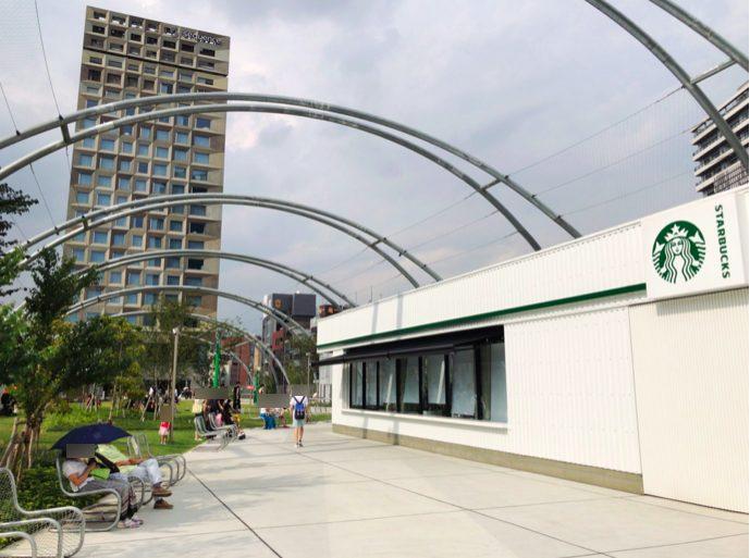 スターバックスコーヒー MIYASHITA PARK店の外観