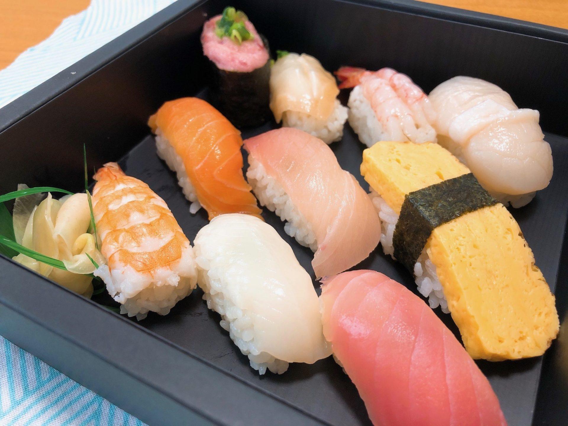 柿家鮨(かきやずし)のにぎり寿司梅