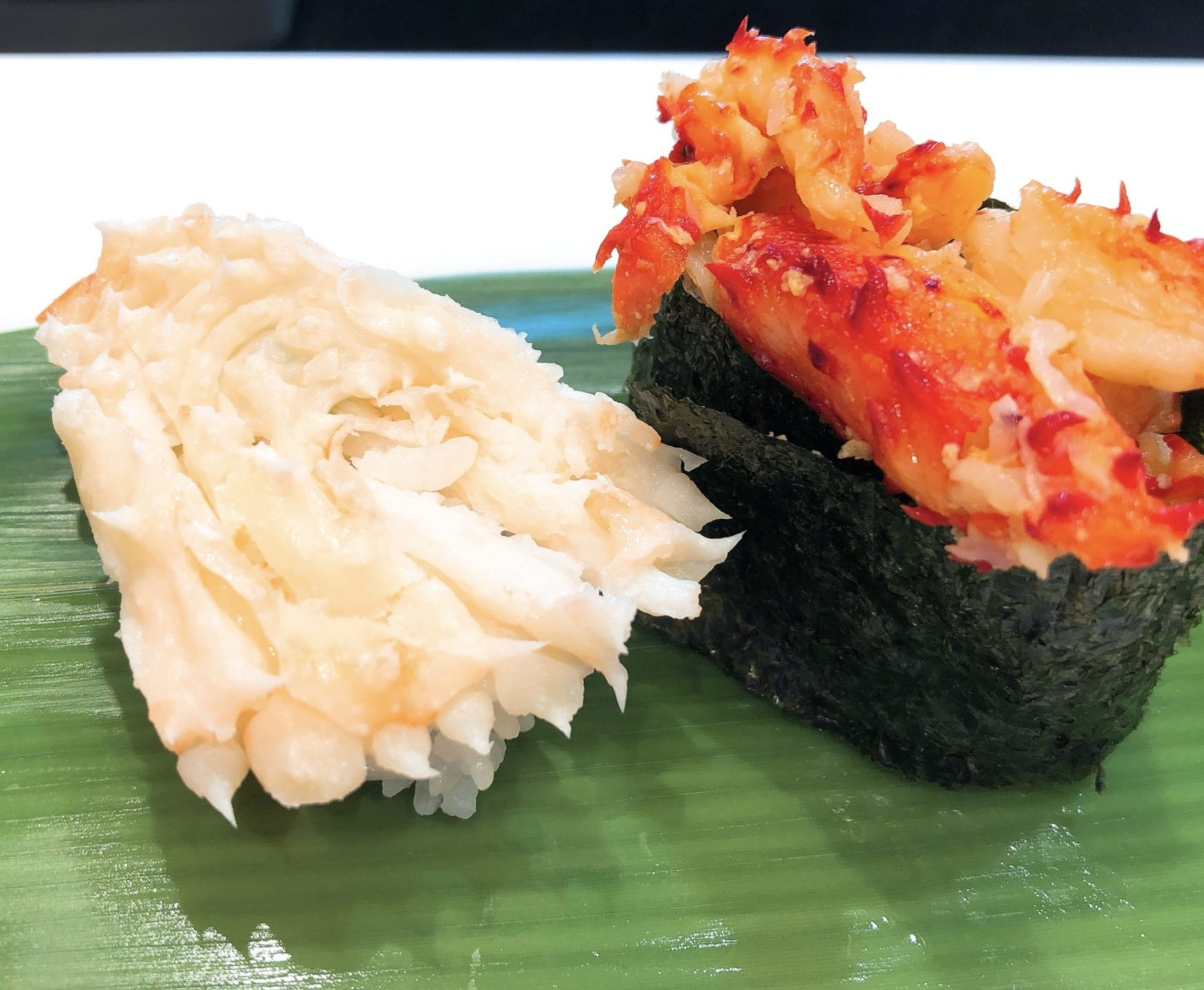 立食い寿司 根室花まる 神宮前店(原宿店)のずわい蟹のふんどし・花咲ガニ