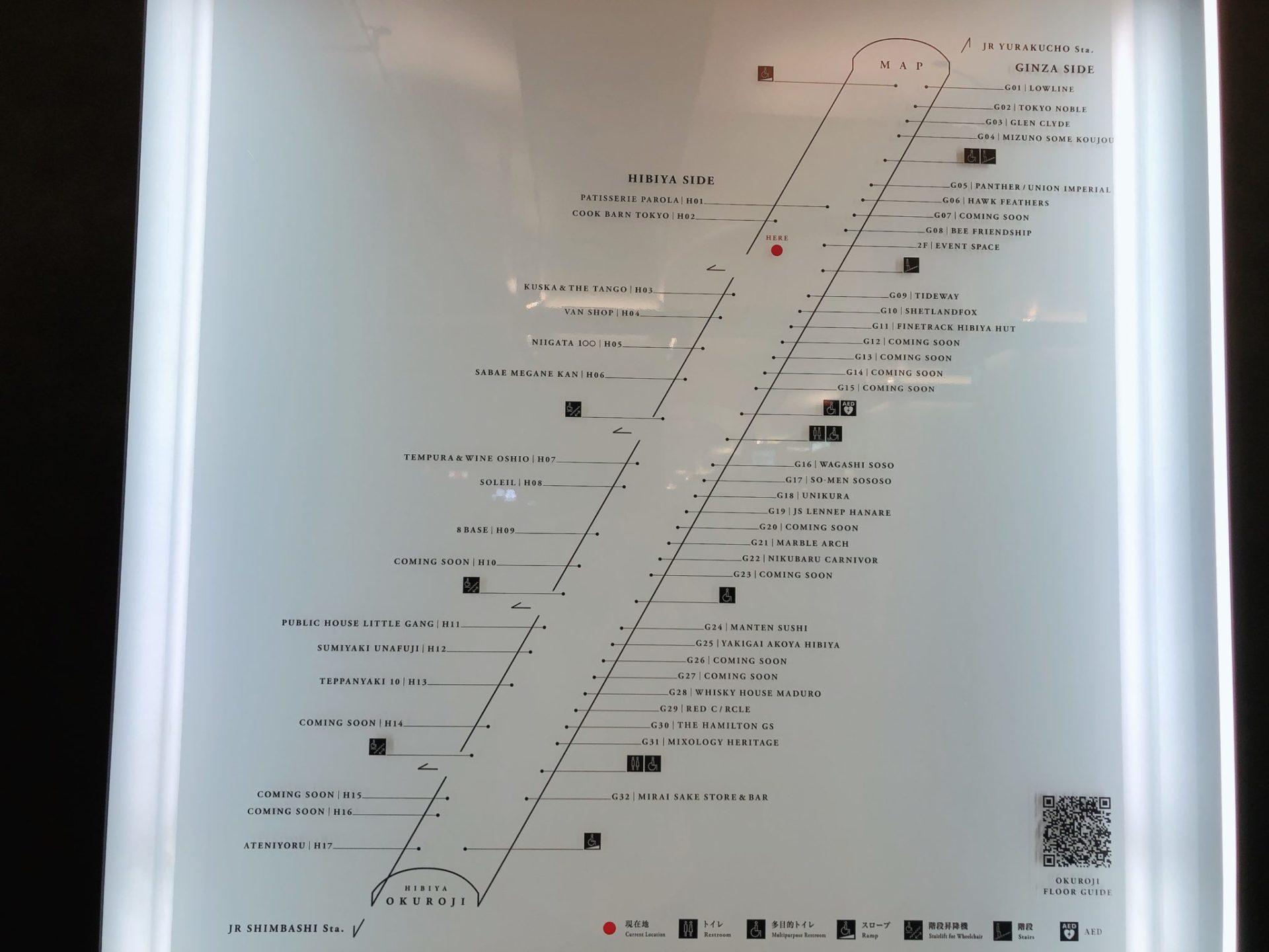 日比谷OKUROJI(ヒビヤオクロジ)のテナント