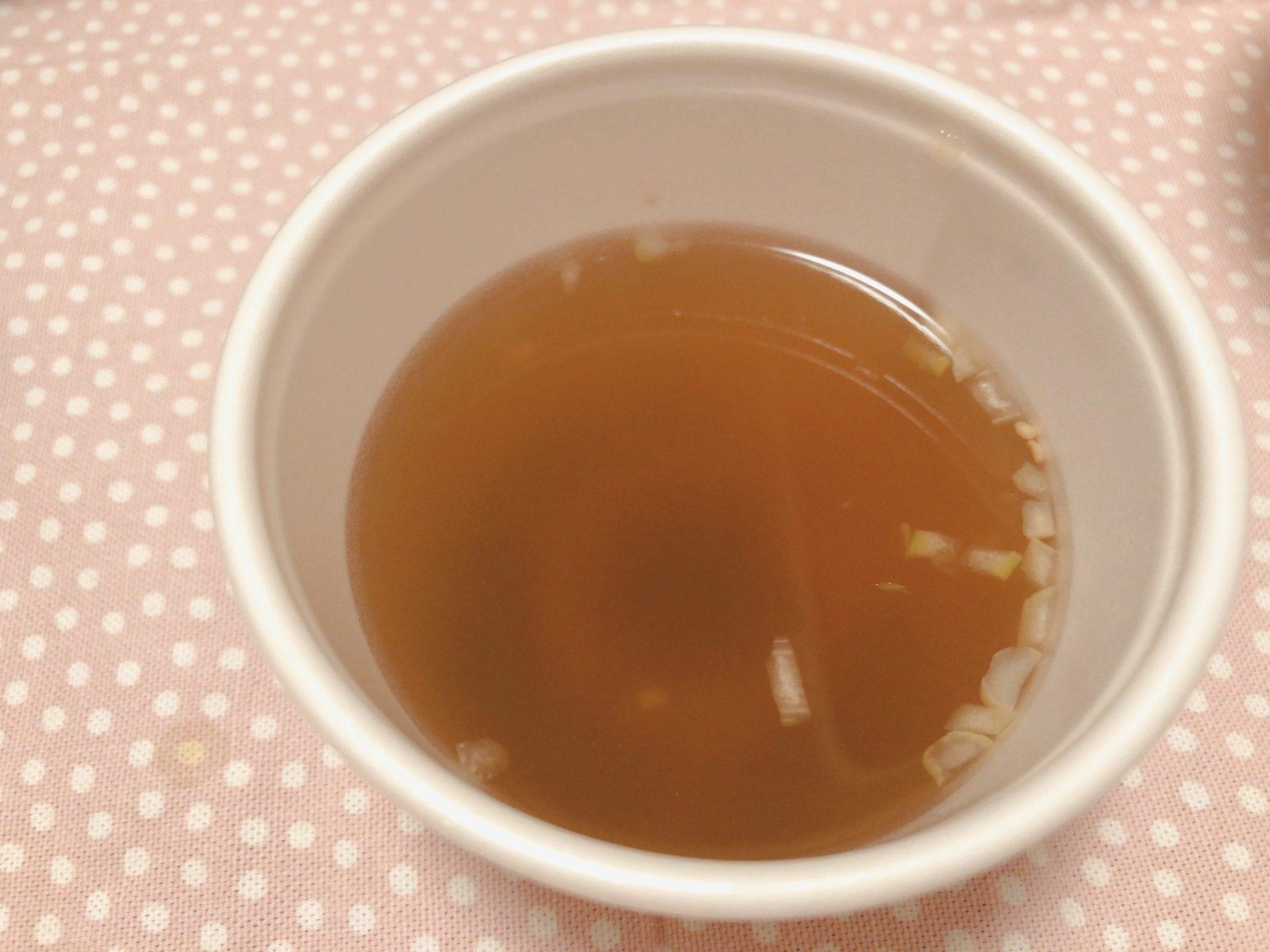 牛角 デリバリーのわかめスープ