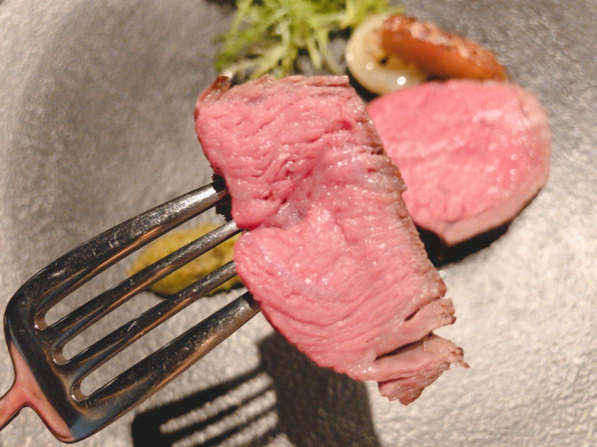 佐賀牛Sagaya銀座のランプ肉ステーキ