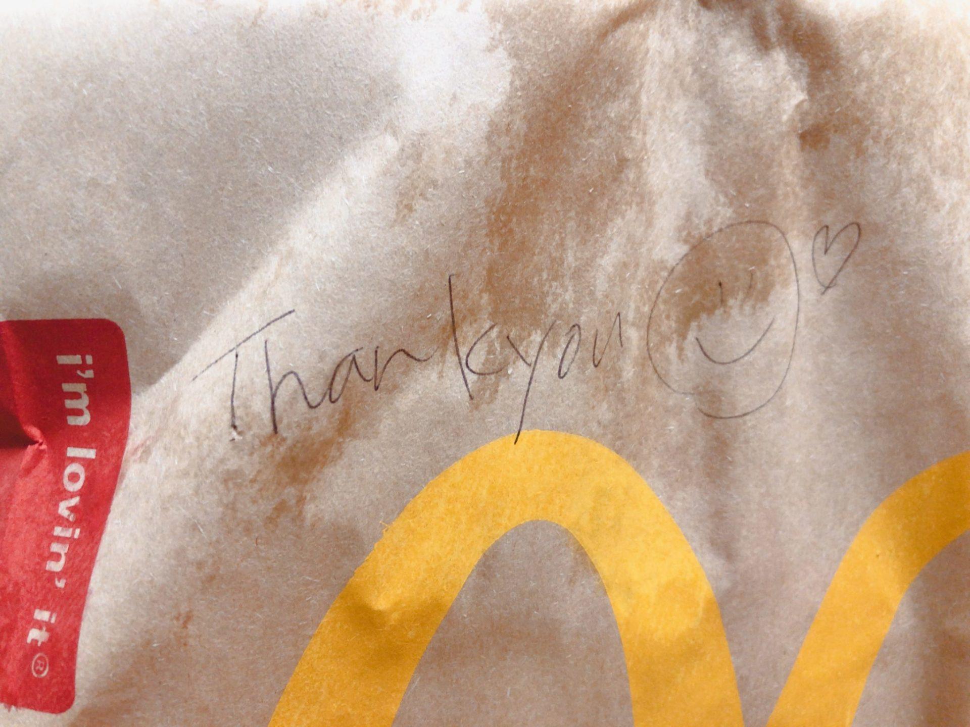 マクドナルドのデリバリーで無料で注文できるスマイル