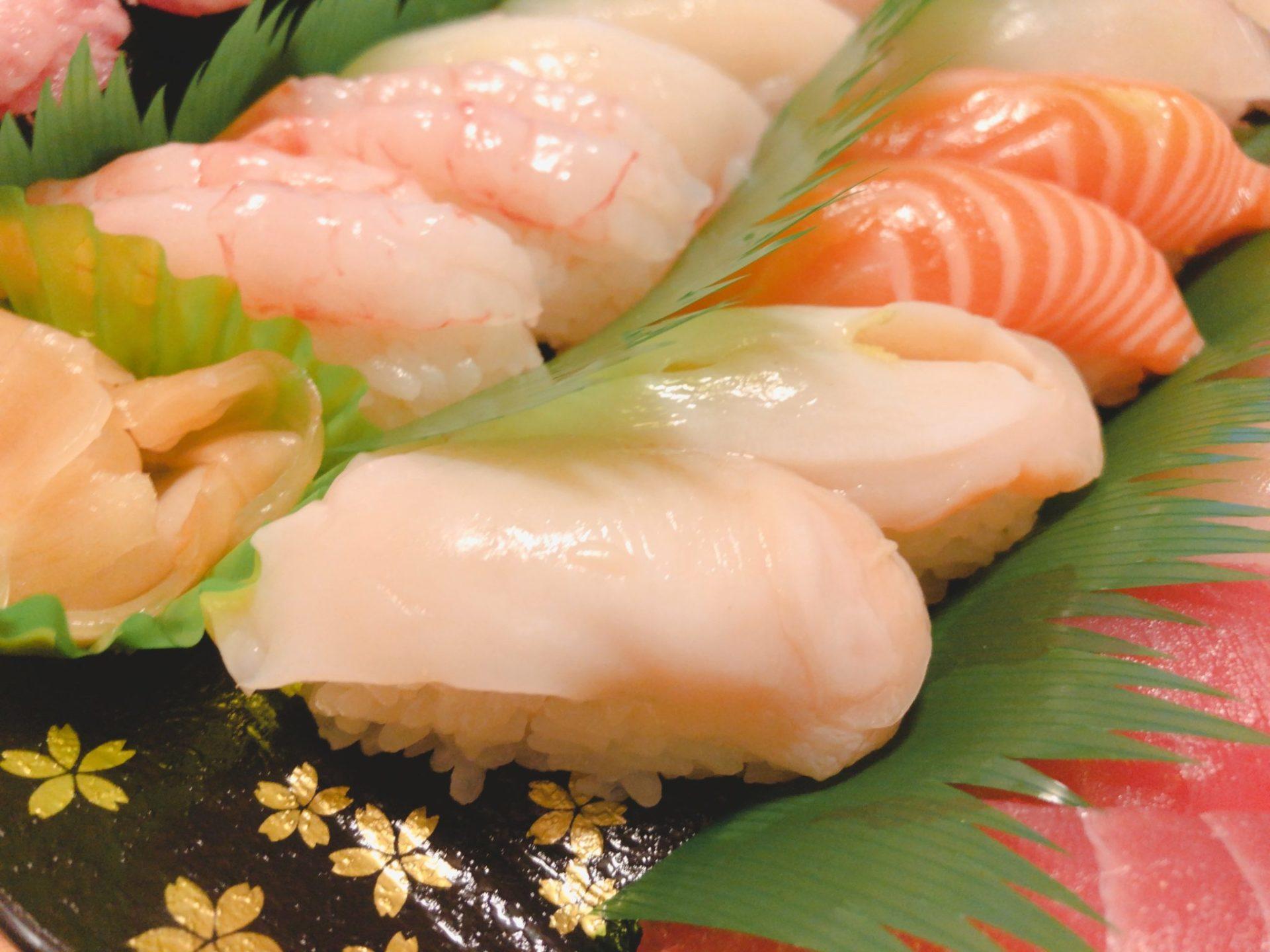銚子丸のUber Eats(ウーバーイーツ)のミル貝ほか