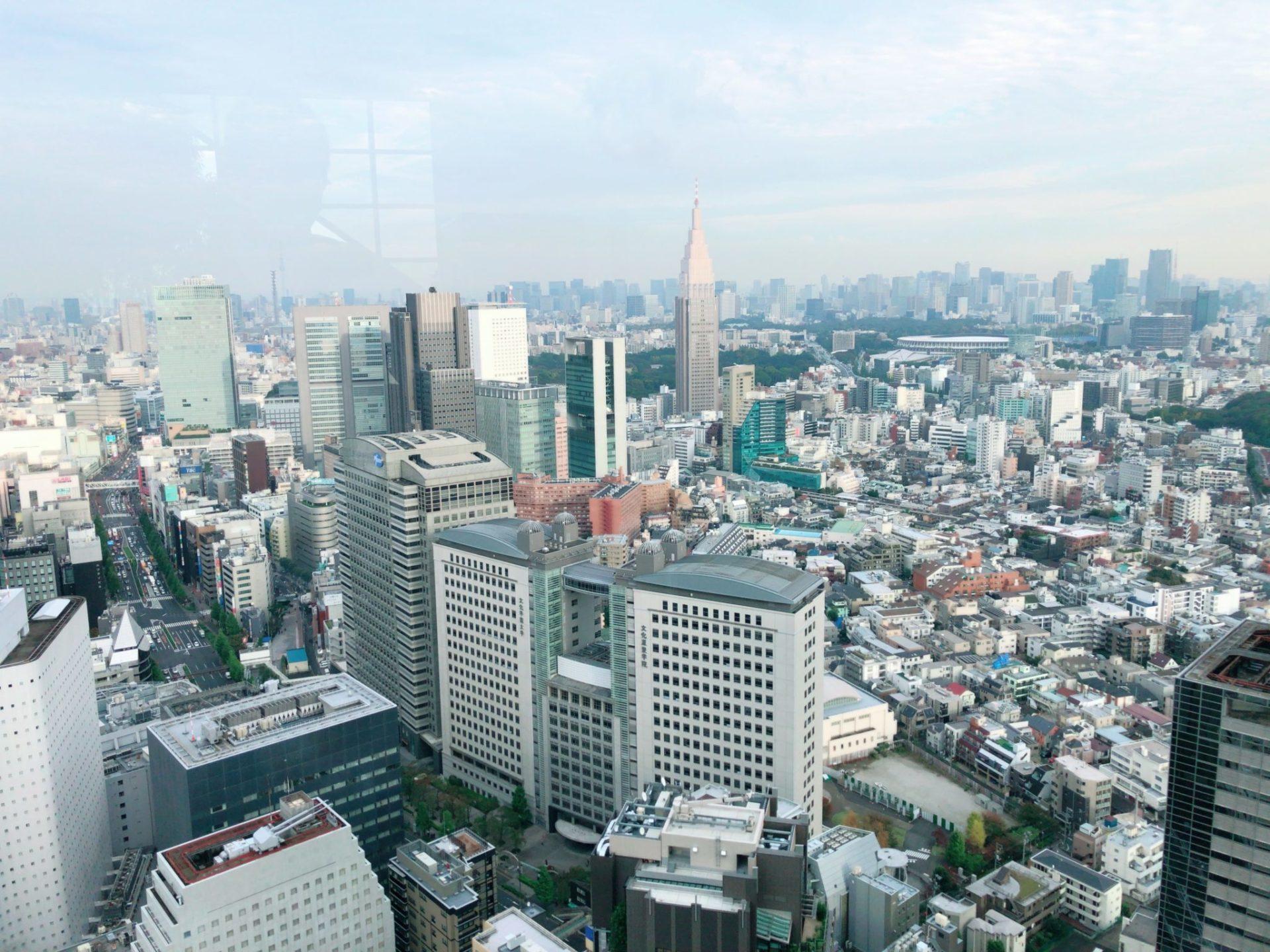 パークハイアット東京の41階からの眺め