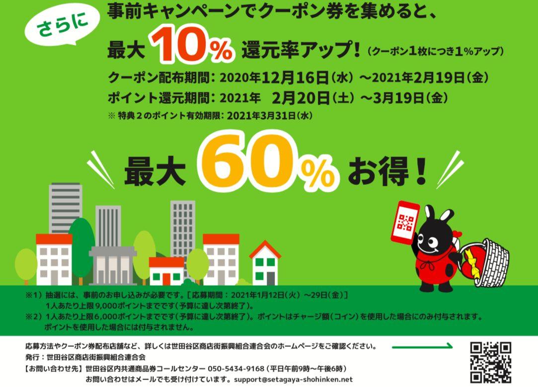 世田谷Pay(せたがやペイ)のキャンペーン