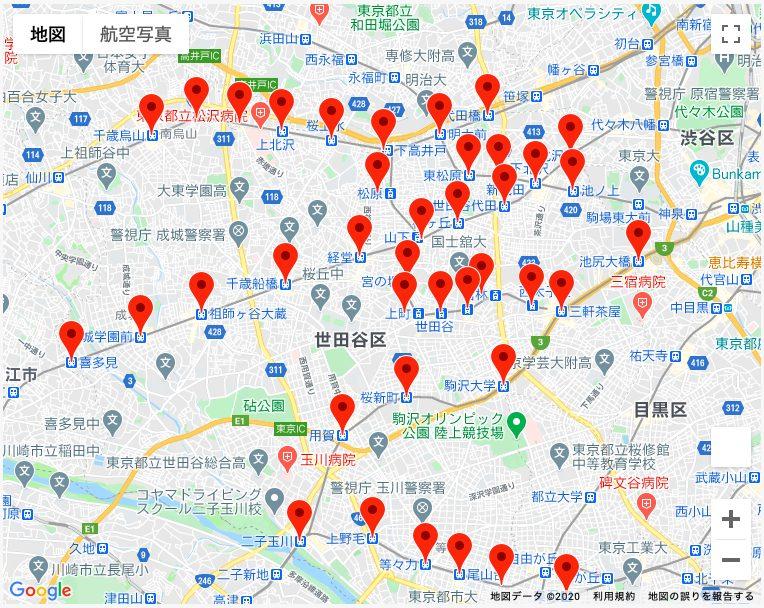 世田谷プレミアム30%付商品券(個店応援券)が使える場所
