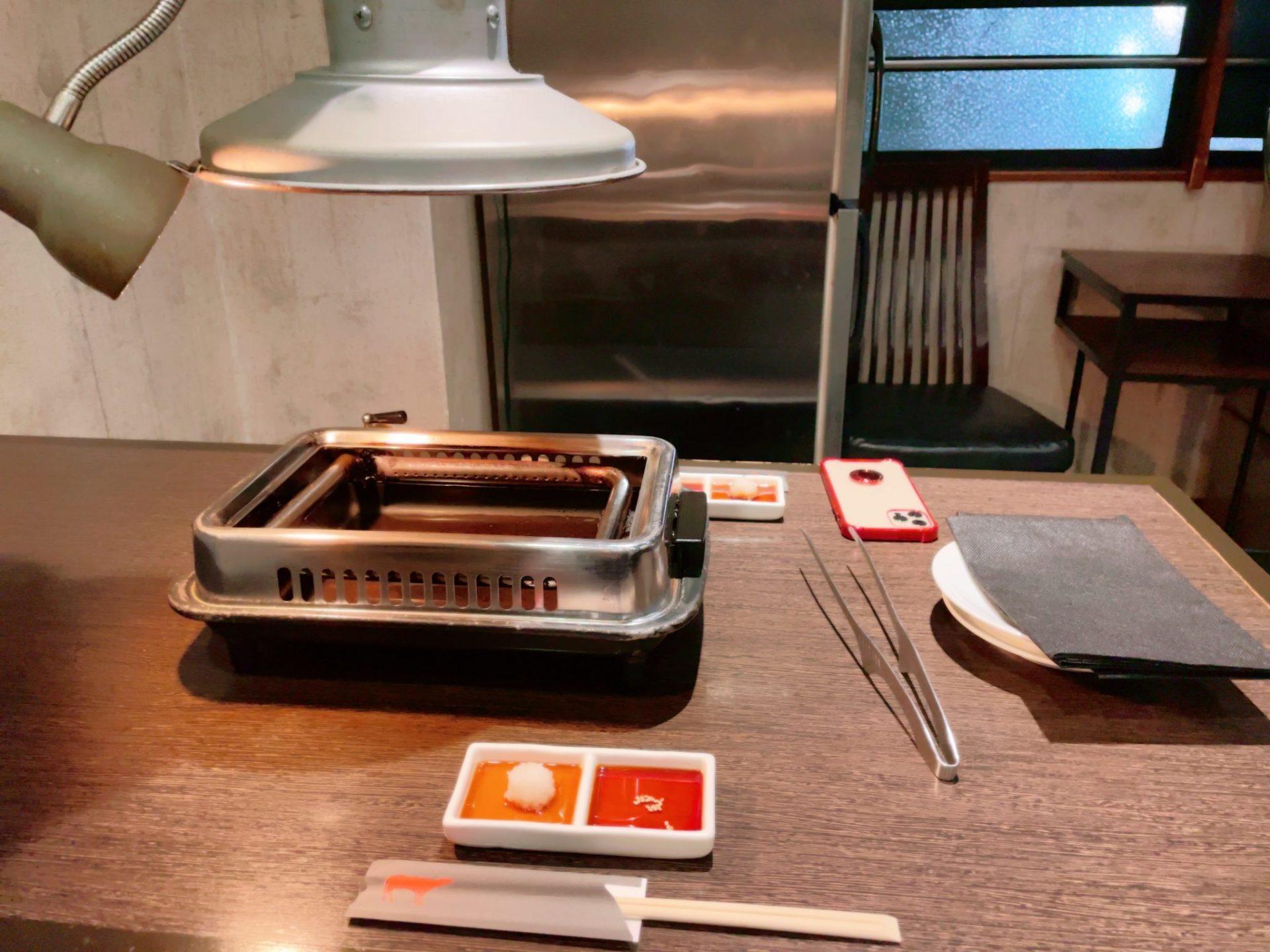 焼肉芝浦 駒沢本店のテーブル席