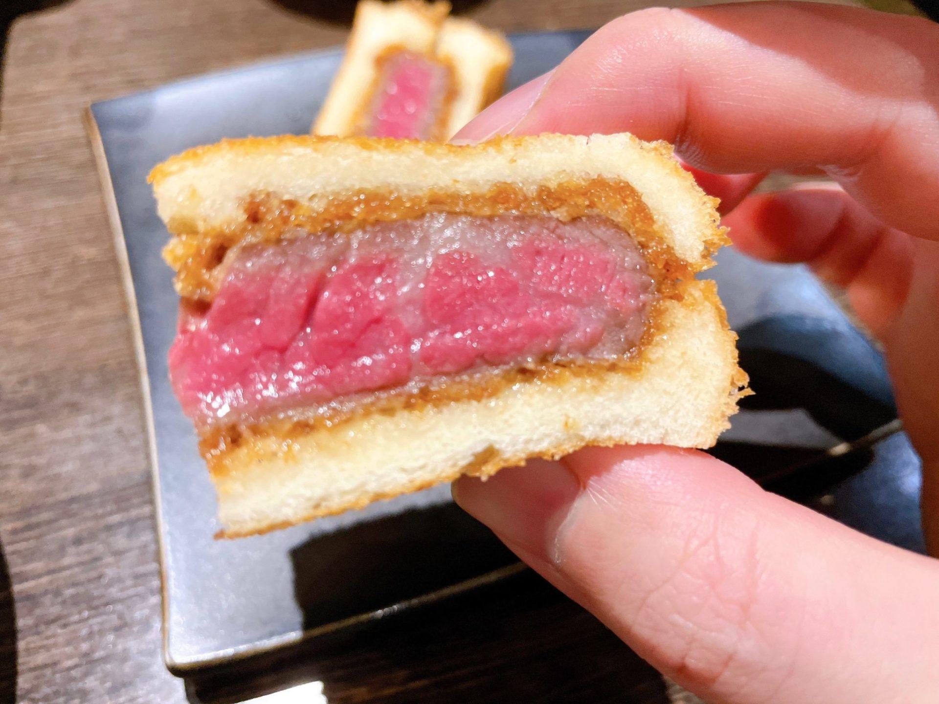 焼肉芝浦 駒沢本店の牛カツサンド