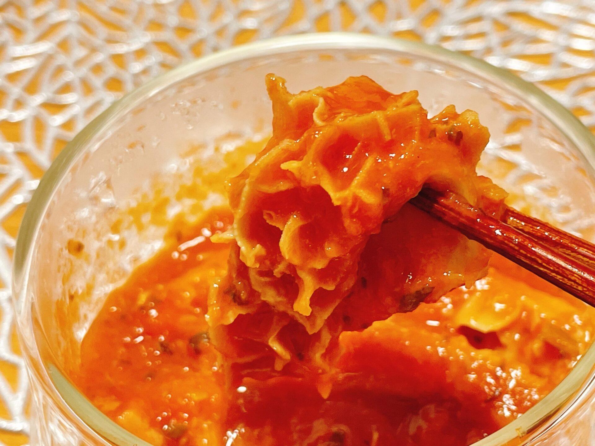フィオッキのトリッパのトマト煮込み