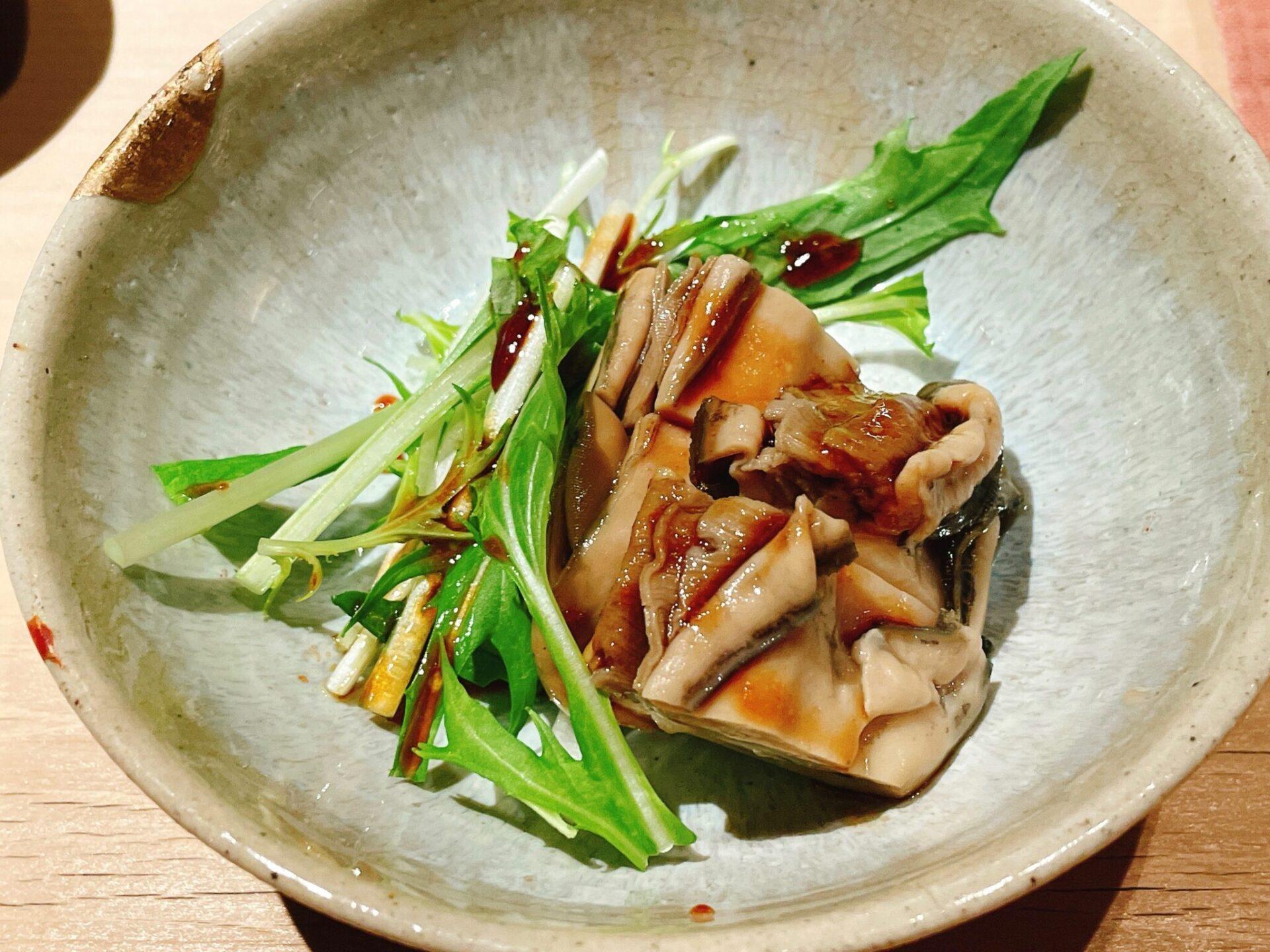 """""""鮨処 喜楽(きらく)""""経堂の煮牡蠣"""